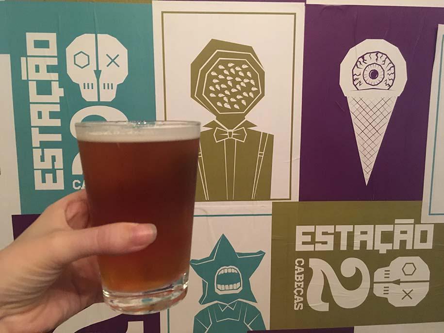 copo de cerveja da duas cabeças