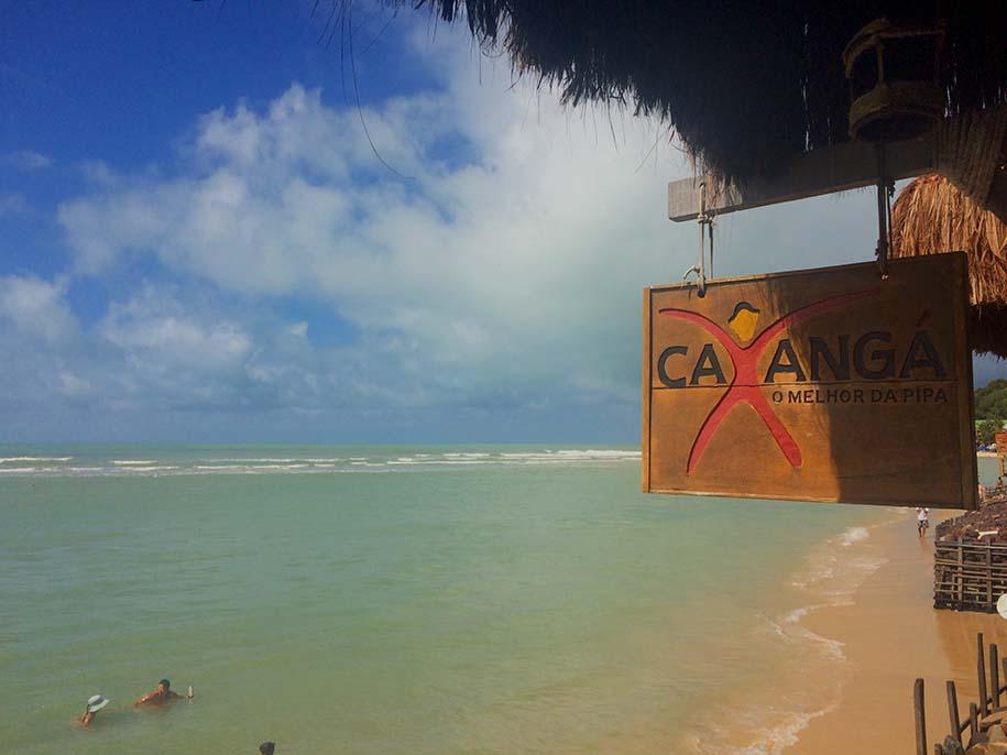 vista do mar a partir do restaurante caxanga, em Pipa