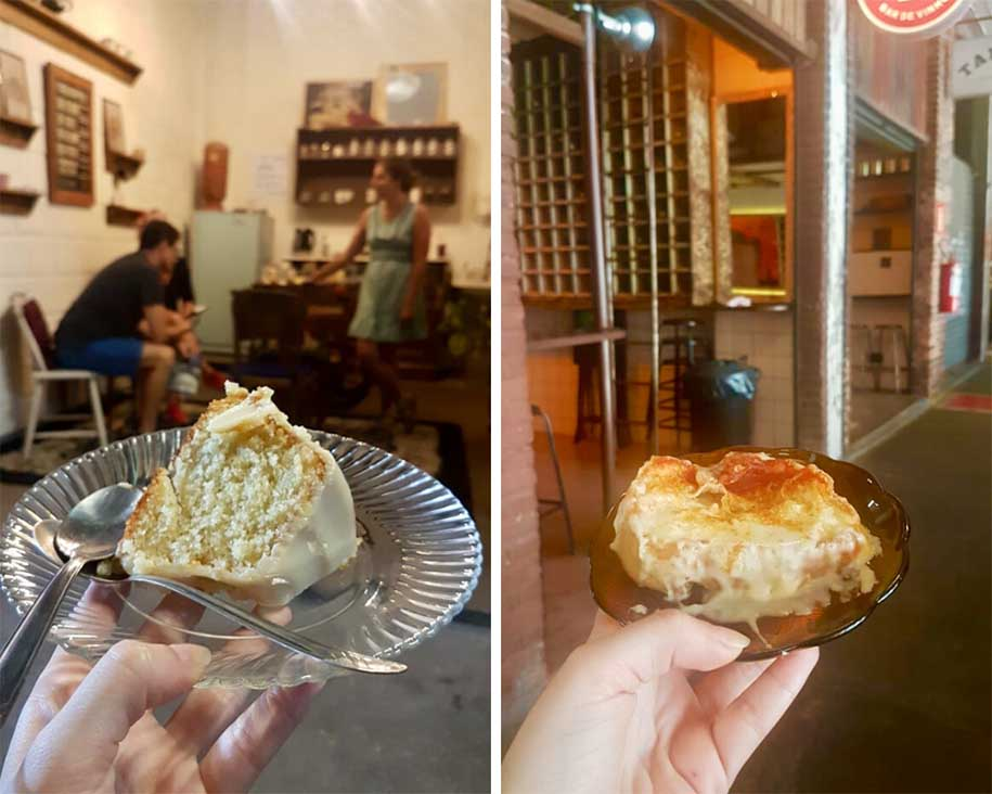 café e bolo no mercado novo