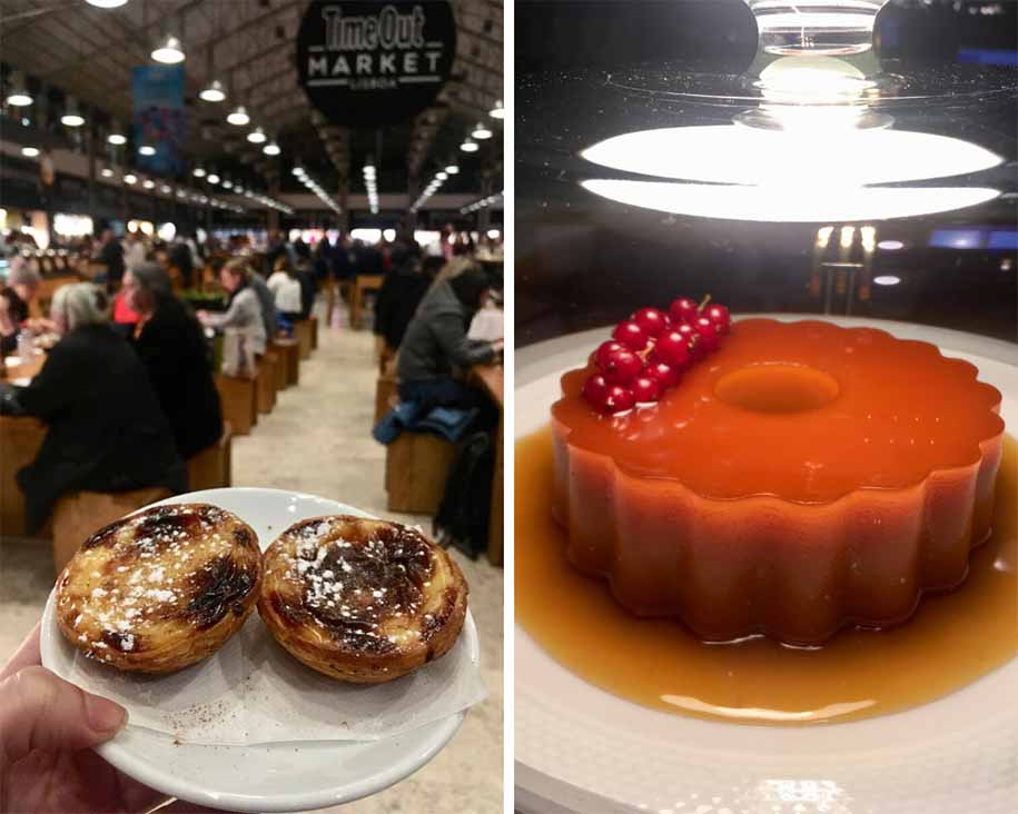 doces portugueses - manteigaria e pudim de abade do mercado da ribeira