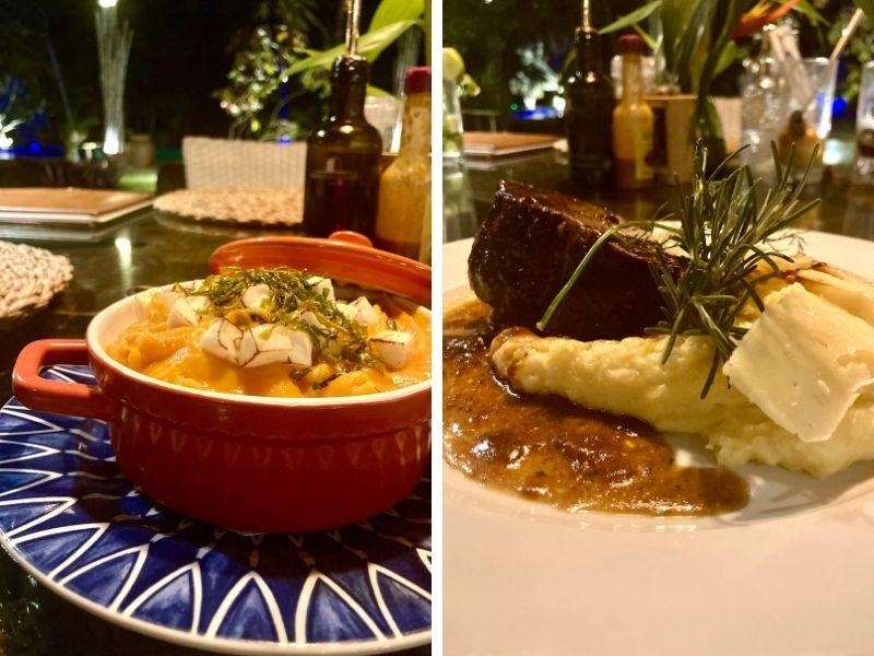 pratos do camurim grande, um dos melhores restaurantes de maragogi